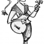 guitar girl 6 drawing