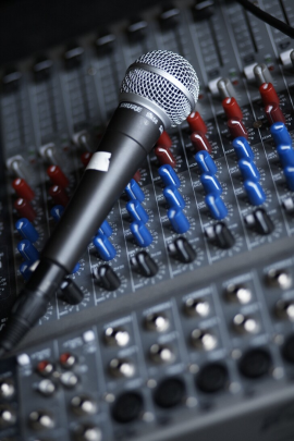 microphone and desk