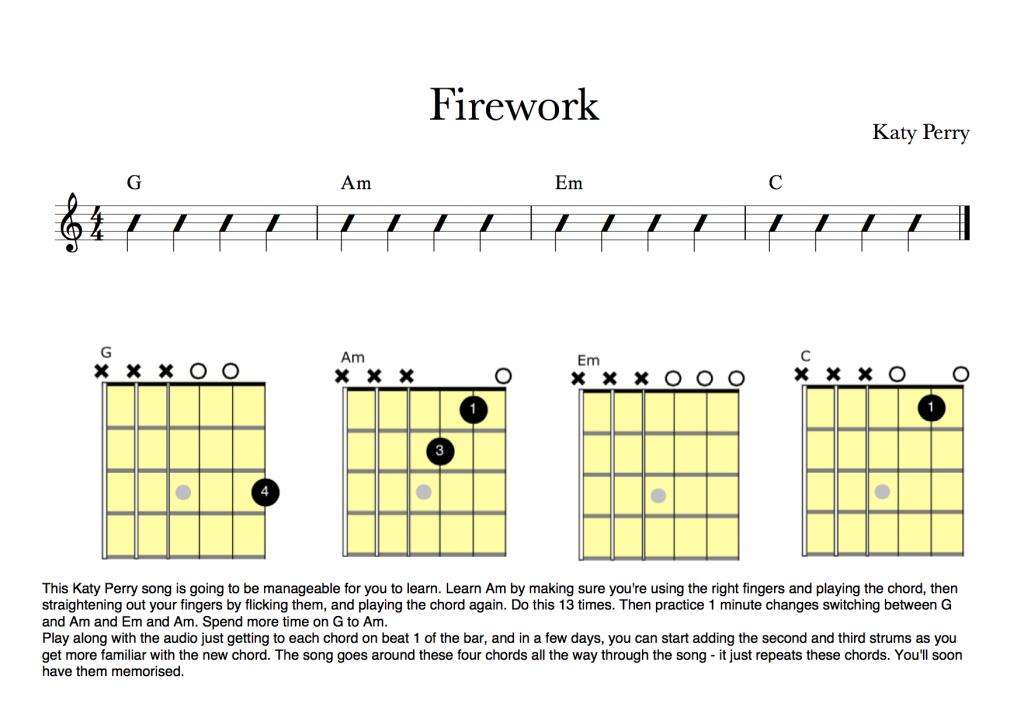 Firework Key To Music